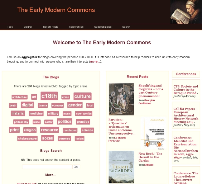 The Early Modern Commons website