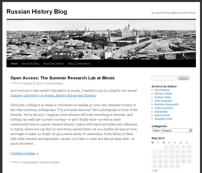 The Russian History blog