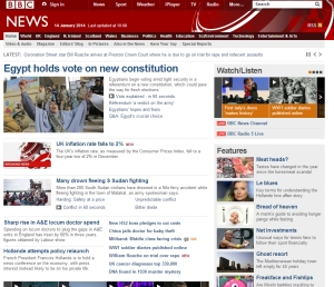Images everywhere on the BBC News website (click on the image to go to this website)